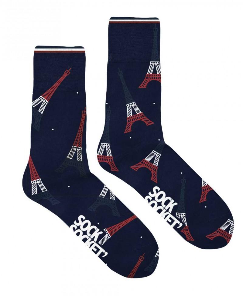 Chaussettes Socksocket mixtes dépareillées motif tour Eiffel