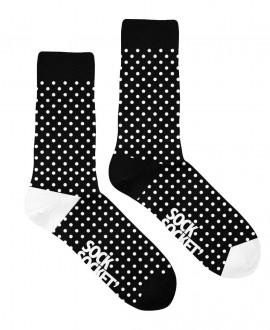 Chaussettes Socksocket mixtes dépareillées motif pois