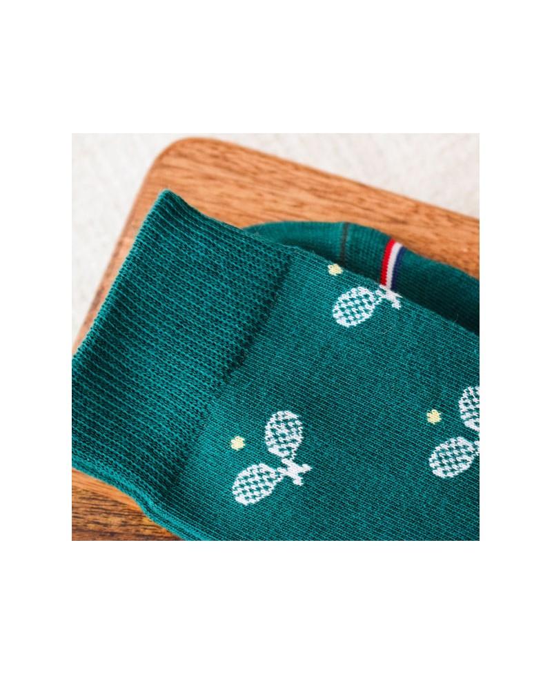 Chaussettes Socksocket mixtes dépareillées motif tennis