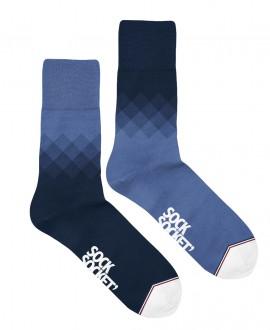 Chaussettes Socksocket mixtes dépareillées bleue