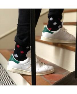 Chaussettes Socksocket mixtes dépareillées motif jeu de carte