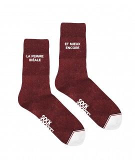 Chaussettes Socksocket pailletées rouges La Femme Idéale