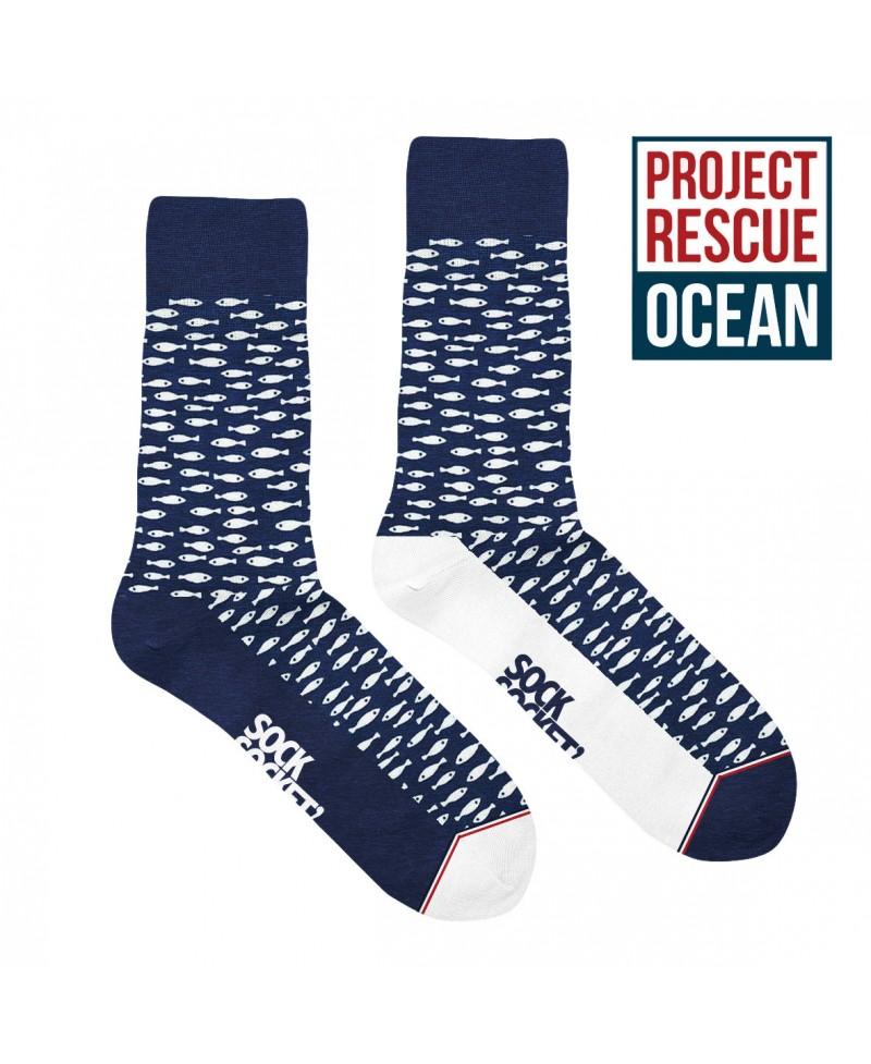 Chaussettes socksocket mixtes dépareillées Project Rescue Ocean