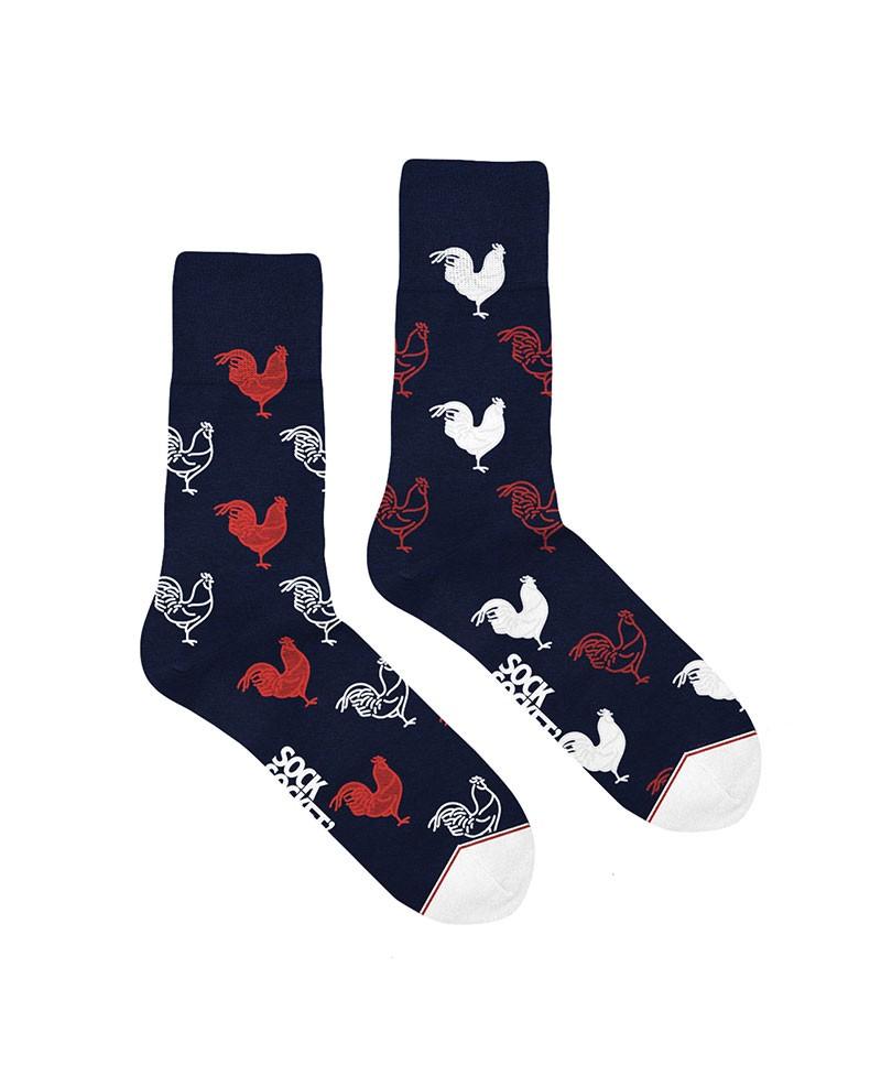 Chaussettes Socksocket mixtes et dépareillées motif coq